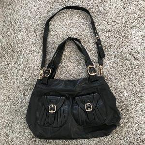 Junior Drake black soft leather handbag